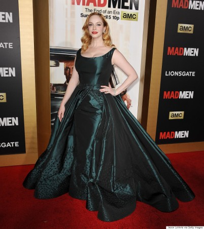 "LOS ANGELES, CA - MARCH 25: Actress Christina Hendricks attends the ""Mad Men"" Black & Red Ball at Dorothy Chandler Pavilion on March 25, 2015 in Los Angeles, California. (Photo by Jason LaVeris/FilmMagic)"